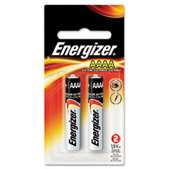 Energizer® BATTERY ENGZR AAAA 2-PK MAX ALKALINE AAAA BATTERIES, 1.5V, 2-PACK