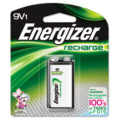 Energizer NiMH Rechargeable Battery, 9V