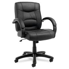 ALE SR42LS10B Alera Strada Leather Mid-Back Swivel/Tilt Chair ALESR42LS10B