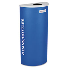 Ex-Cell Kaleidoscope Collection Recycling Receptacle, 8 gal, Royal Blue