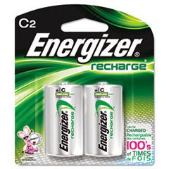 Energizer NiMH Rechargeable Batteries, C, 2 Batteries/Pack