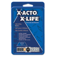 X-ACTO SurGrip Utility Knife Blades, 100/Pack