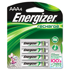 Energizer e� NiMH Rechargeable Batteries, AAA, 4 Batteries/Pack