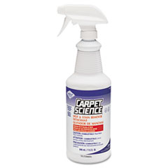 Carpet Science Spot And Stain Remover, 32 oz Trigger Spray Bottle, 6/Carton