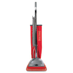 Electrolux Sanitaire Commercial Standard Upright Vacuum, 19.8 lbs, Red/Gray