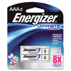 Energizer Lithium Batteries, AAA, 2 Batteries/Pack
