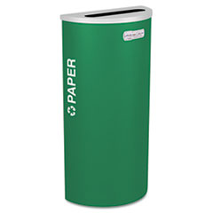 Ex-Cell Kaleidoscope Collection Recycling Receptacle, 8gal, Emerald Green