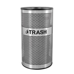 Ex-Cell Stainless Steel Trash Receptacle; 33 gal; Stainless Steel