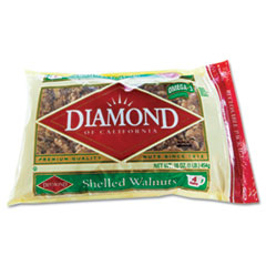Diamond of California Shelled Walnuts, 1 lb Bag