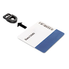 Durable CARD FIX Card Holder, Black, 50/Box