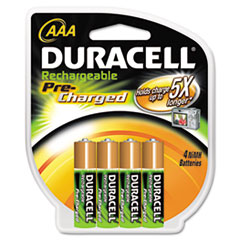 Duracell DX2400B4N001 Coppertop NiMH Pre-Charged Rechargeable Battery, AAA, 4/Pack DURDX2400B4N001 DUR DX2400B4N001