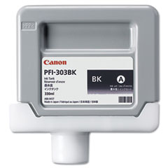 Canon 2958B001 (PFI-303BK) Ink, 330 mL, Black