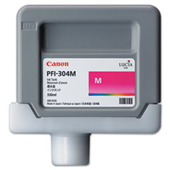 Canon 3851B001AA (PFI-304) Ink, 330mL, Magenta