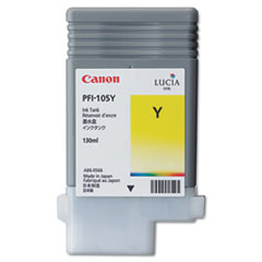 Canon 3003B001AA (PFI-105) Ink, 130mL, Yellow