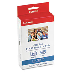 Canon 7739A001 Ink Cartridge/Photo Paper Set, 36 Sheets
