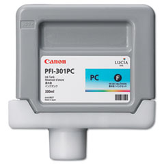 Canon 1490B001 (PFI-301PC) Ink Tank, 330 mL, Photo Cyan