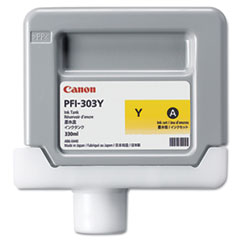 Canon 2961B001 (PFI-303Y) Ink, 330 mL, Yellow