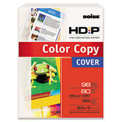 Boise HD:P Color Copy Cover, 80 lbs., 98 Brightness, 8-1/2 x 11, White, 250 Sheets