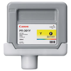 Canon 1489B001 (PFI-301Y) Ink Tank, 330 mL, Yellow