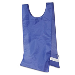 Champion Sports Heavyweight Pinnies, Nylon, One Size, Blue, 12/Box