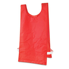Champion Sports Heavyweight Pinnies, Nylon, One Size, Red, 1 Dozen