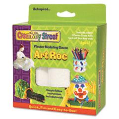 Creativity Street ArtRoc Plaster Modeling Gauze, White, 2 Rolls/Pack