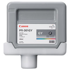 Canon 1495B001 (PFI-301) Ink Tank, 330 mL, Gray