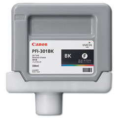 Canon 1486B001AA (PFI-301BK) Ink Tank, 330 mL, Black