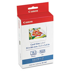 Canon 7741A001 (KC-18IF) Ink & Label Set, Black/Tri-Color