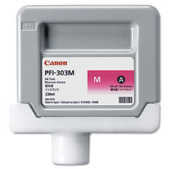Canon 2960B001 (PFI-303M) Ink, 330 mL, Magenta
