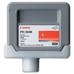 Canon 3855B001AA (PFI-304) Ink, 330mL, Red
