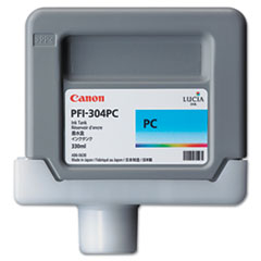 Canon 3853B001AA (PFI-304) Ink, 330mL, Cyan