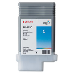 Canon 3001B001AA (PFI-105) Ink, 130mL, Cyan