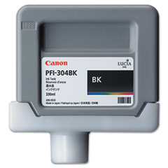 Canon 3849B001AA (PFI-304) Ink, 330mL, Black
