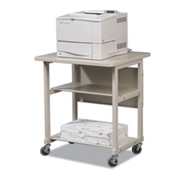 BALT Heavy-Duty Mobile Laser Printer Stand, 3-Shelf, 27w x 25d x 27-1/2h, Gray