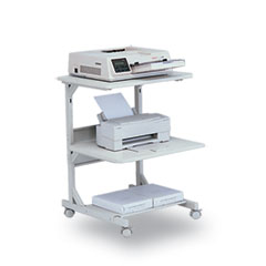BALT Dual Laser Printer Stand, 3-Shelf, 24w x 24d x 33h, Gray