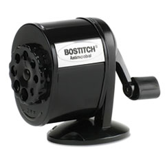 Stanley Bostitch Counter-Mount/Wall-Mount Antimicrobial Manual Pencil Sharpener, Black