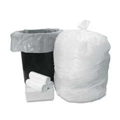 Boardwalk Low-Density Can Liner Smart Packs, 40-45 Gal., 0.65 ml, White, 50/Carton