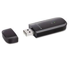 Belkin Basic Wireless USB Adapter, 150 Mbps, Black
