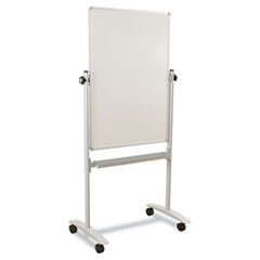 Best-Rite Mobile Reversible Whiteboard, White/Silver, 30w x 40h