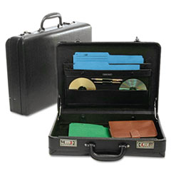 Bond Street, Ltd. Expandable Attach� Case, Koskin, 17-1/2 x 4-1/2 x 13, Black