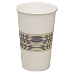 Boardwalk Paper Hot Cups, 16oz, Blue/Tan, 50/Bag, 20 Bags/Carton