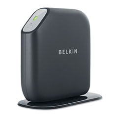 Belkin Surf N300 Wireless N Router, 4 LAN Ports, 2.4GHz, Black