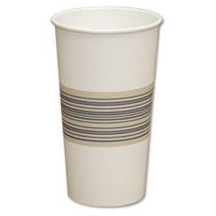 Boardwalk Paper Hot Cups, 20oz, Blue/Tan, 25/Bag, 20 Bags/Carton