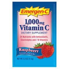 Emergen-C Immune Defense Drink Mix, Raspberry, 0.3 oz Packet, 50/Pack
