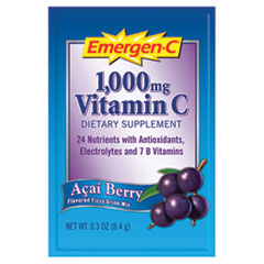 Emergen-C Immune Defense Drink Mix, Acai Berry, 0.3 oz Packet, 50/Pack