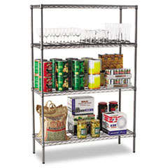ALE SW504818BA Alera Black Anthracite Wire Shelving Kit ALESW504818BA