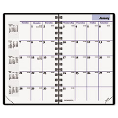 DayMinder Recycled Monthly Planner,Black, 3 3/4