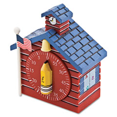 Baumgartens Shaped Timer, 3/4 x 2 x 3 1/2, Red School House