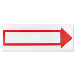COSCO Stake Sign, 6 x 17, Blank White with Printed Red Arrow